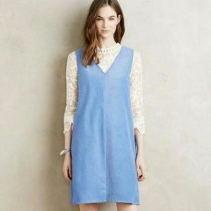 Anthropologie Corded V-neck Shift Dress